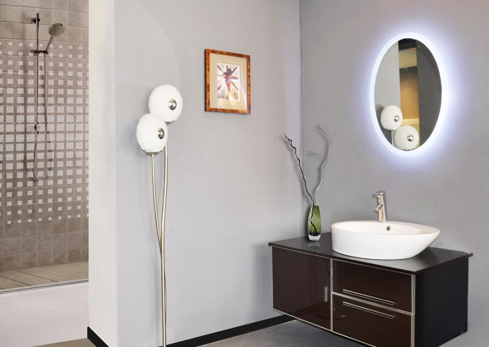 Meubles oval montr al miroir led oval meubles montr al for Miroir montreal