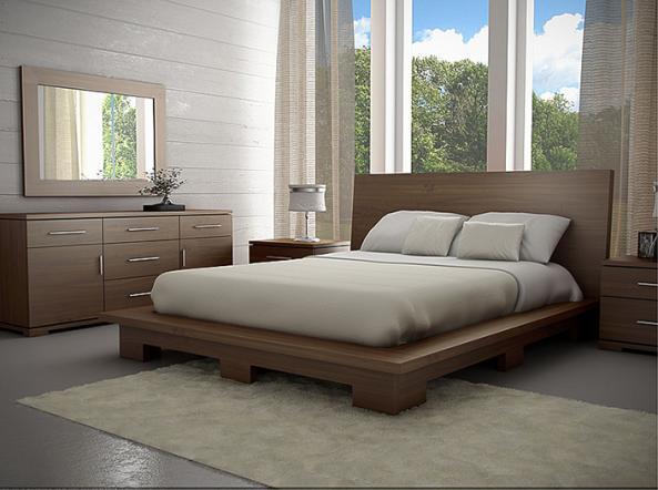 Meubles gal260 montr al lit bois gal260 meubles for Meuble chambre a coucher montreal