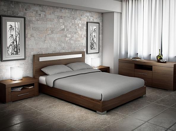 Meubles tha960 montr al lit bois tha960 meubles for Lit design montreal